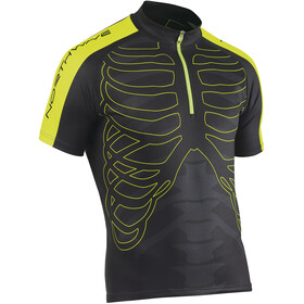 Northwave Skeleton Jersey SS Herren black-yellow